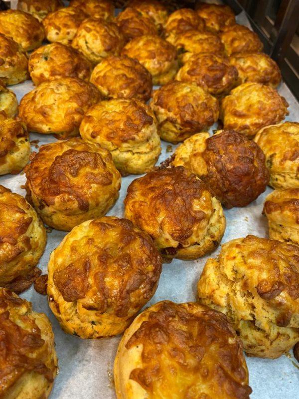 Ham & cheese & onion scone